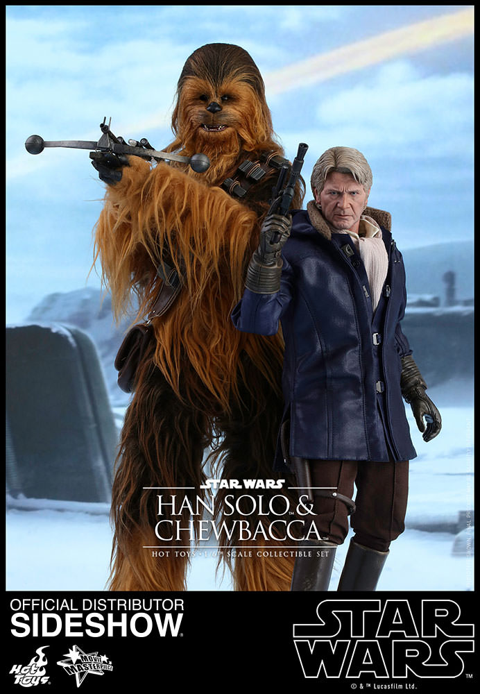 Star Wars Han Solo and Chewbacca Sixth Scale Figure Set by ...
