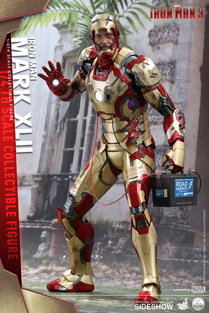 marvel iron man mark xlii quarter scale figure by hot toys