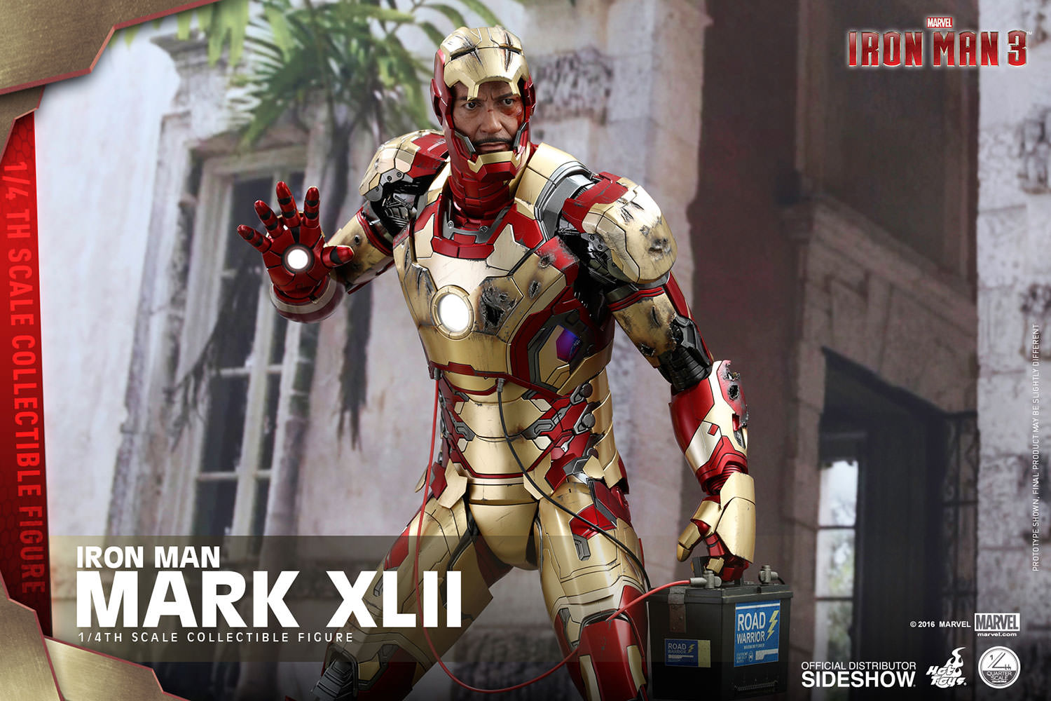 marvel iron man mark xlii quarter scale figure by hot toys