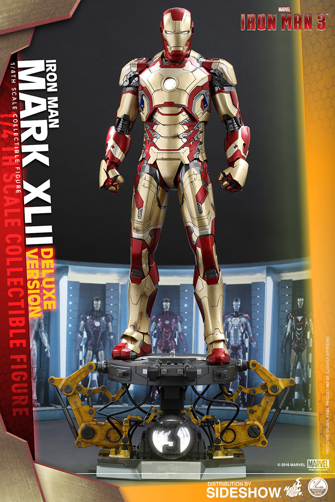 marvel iron man mark xlii deluxe version quarter scale
