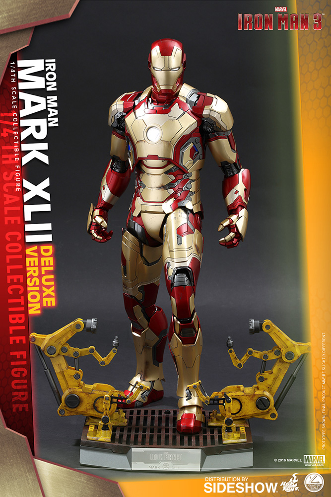 marvel iron man mark xlii deluxe version quarter scale