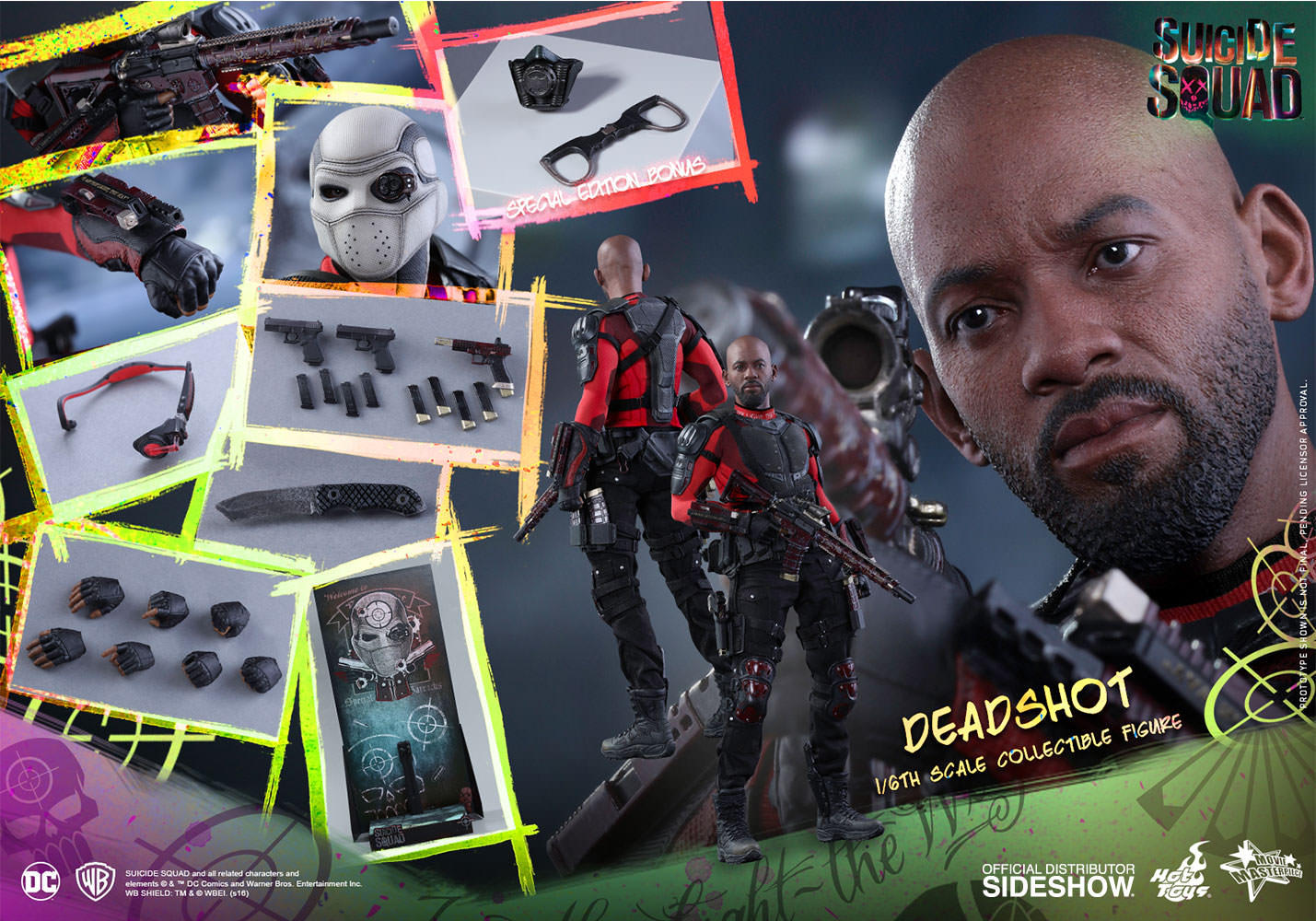 Dc Comics Deadshot Sixth Scale Figure By Hot Toys