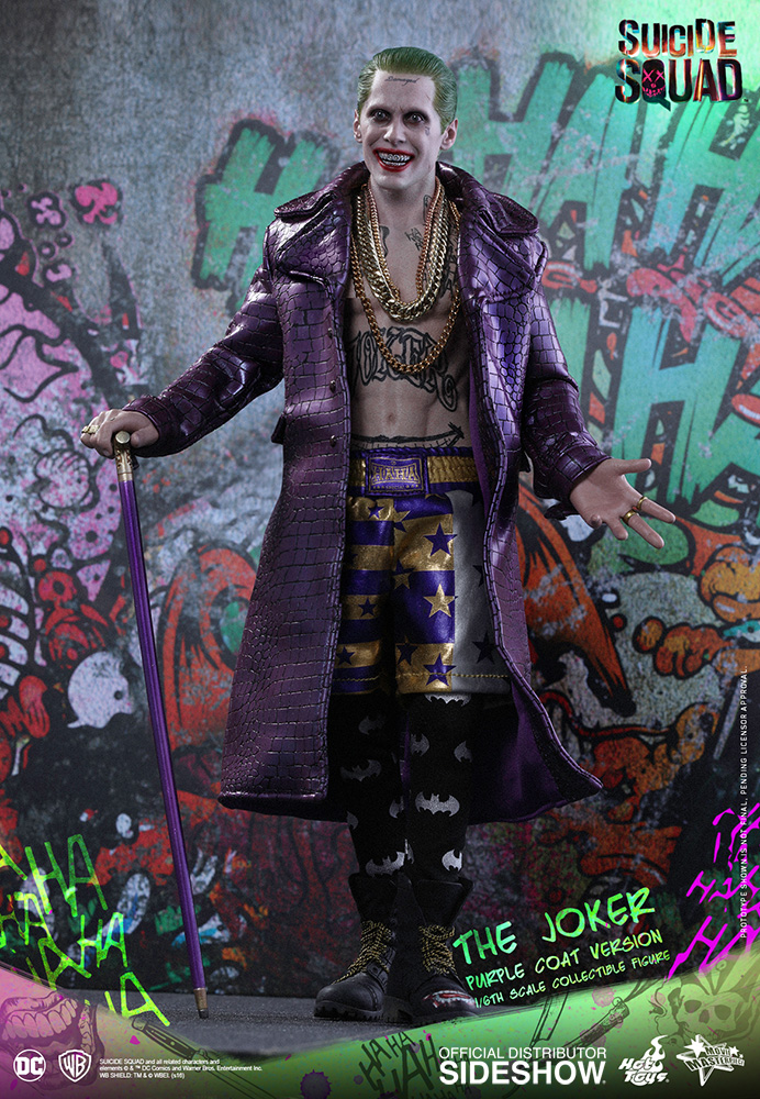 Hot Toys Suicide Squad Joker Purple Coat Ver Gold Necklace 3 loose 1//6th scale