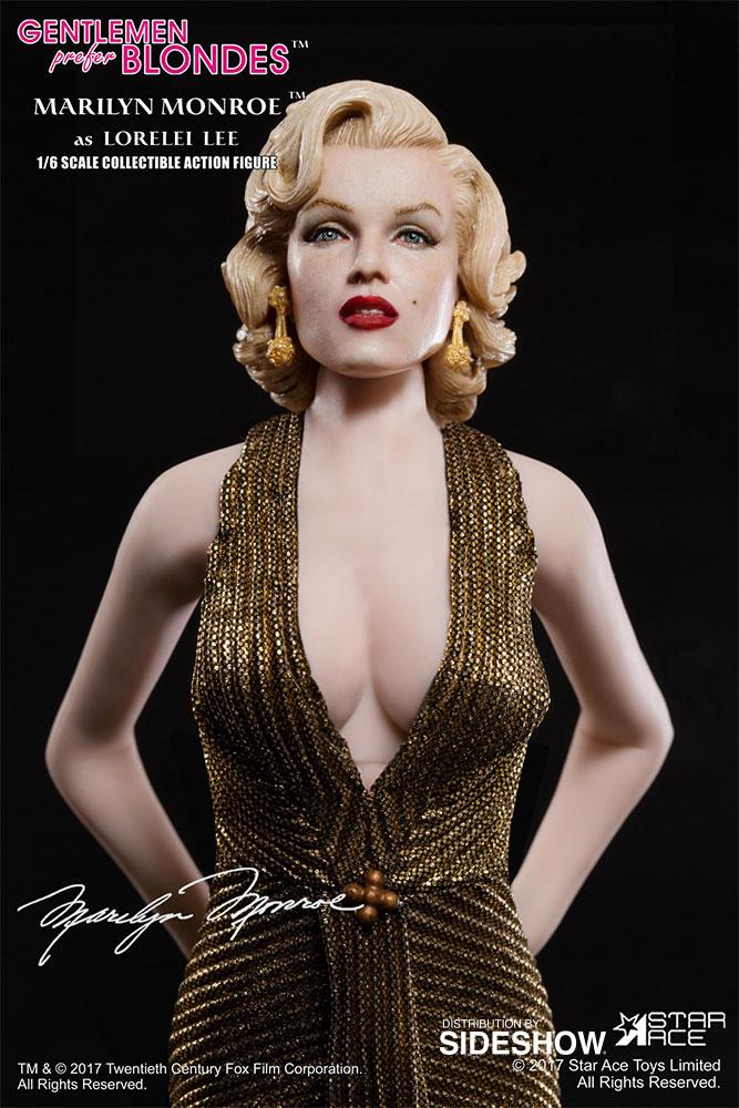 "STAR ACE - Marilyn Monroe from ""Gentlemen Prefer Blondes"" Marilyn-monroe-as-lorelei-lee-gold-dress-version-sixth-scale-star-ace-902838-01"