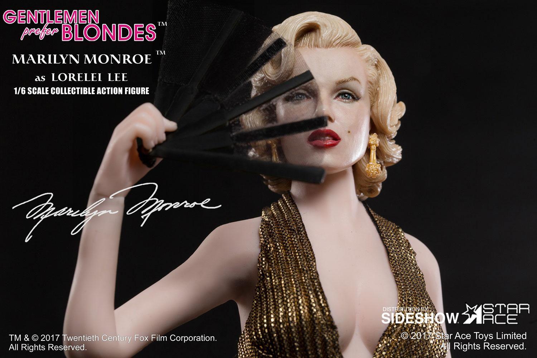 "STAR ACE - Marilyn Monroe from ""Gentlemen Prefer Blondes"" Marilyn-monroe-as-lorelei-lee-gold-dress-version-sixth-scale-star-ace-902838-03"