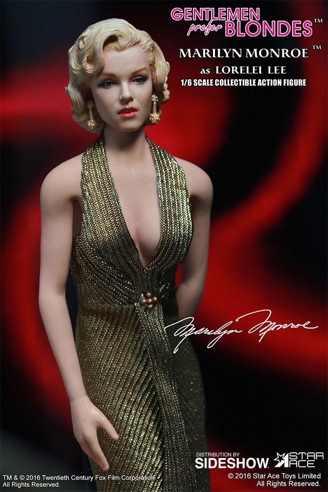 "STAR ACE - Marilyn Monroe from ""Gentlemen Prefer Blondes"" Marilyn-monroe-as-lorelei-lee-gold-dress-version-sixth-scale-star-ace-902838-06"