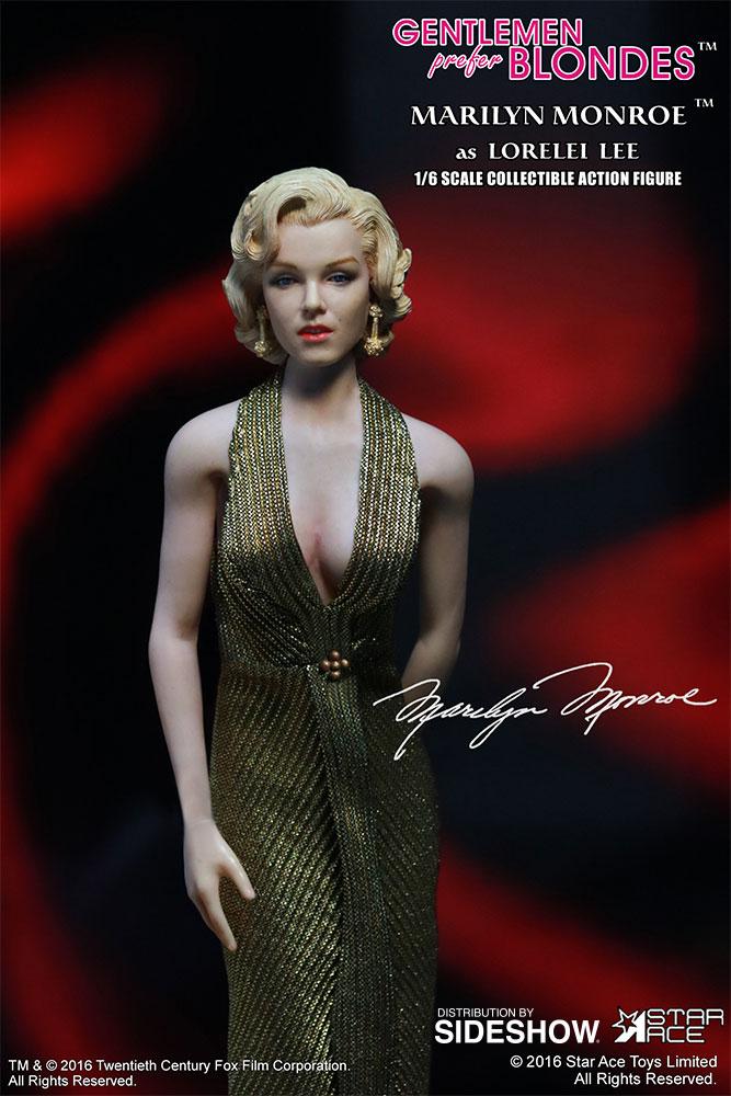 "STAR ACE - Marilyn Monroe from ""Gentlemen Prefer Blondes"" Marilyn-monroe-as-lorelei-lee-gold-dress-version-sixth-scale-star-ace-902838-07"
