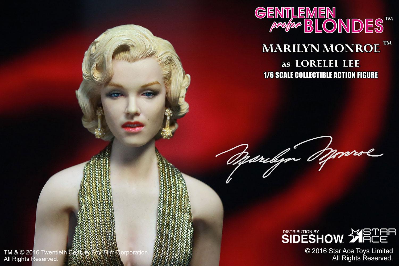 "STAR ACE - Marilyn Monroe from ""Gentlemen Prefer Blondes"" Marilyn-monroe-as-lorelei-lee-gold-dress-version-sixth-scale-star-ace-902838-08"