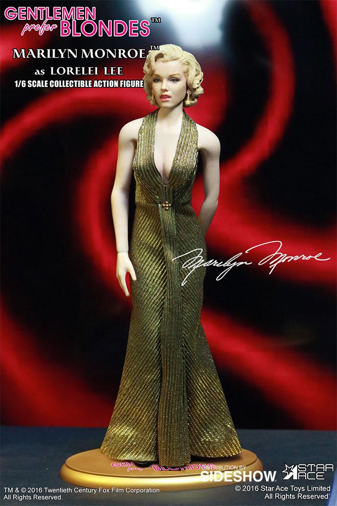 "STAR ACE - Marilyn Monroe from ""Gentlemen Prefer Blondes"" Marilyn-monroe-as-lorelei-lee-gold-dress-version-sixth-scale-star-ace-902838-09"