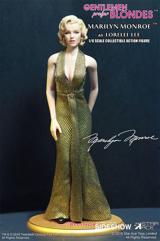 "STAR ACE - Marilyn Monroe from ""Gentlemen Prefer Blondes"" Marilyn-monroe-as-lorelei-lee-gold-dress-version-sixth-scale-star-ace-902838-10"