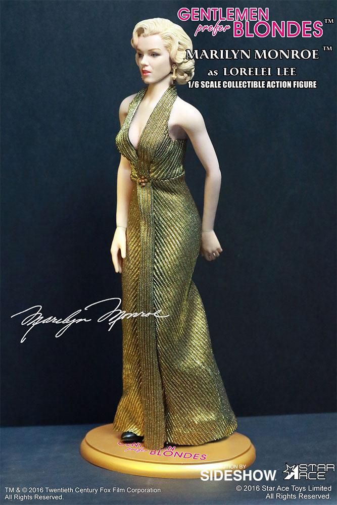 "STAR ACE - Marilyn Monroe from ""Gentlemen Prefer Blondes"" Marilyn-monroe-as-lorelei-lee-gold-dress-version-sixth-scale-star-ace-902838-11"