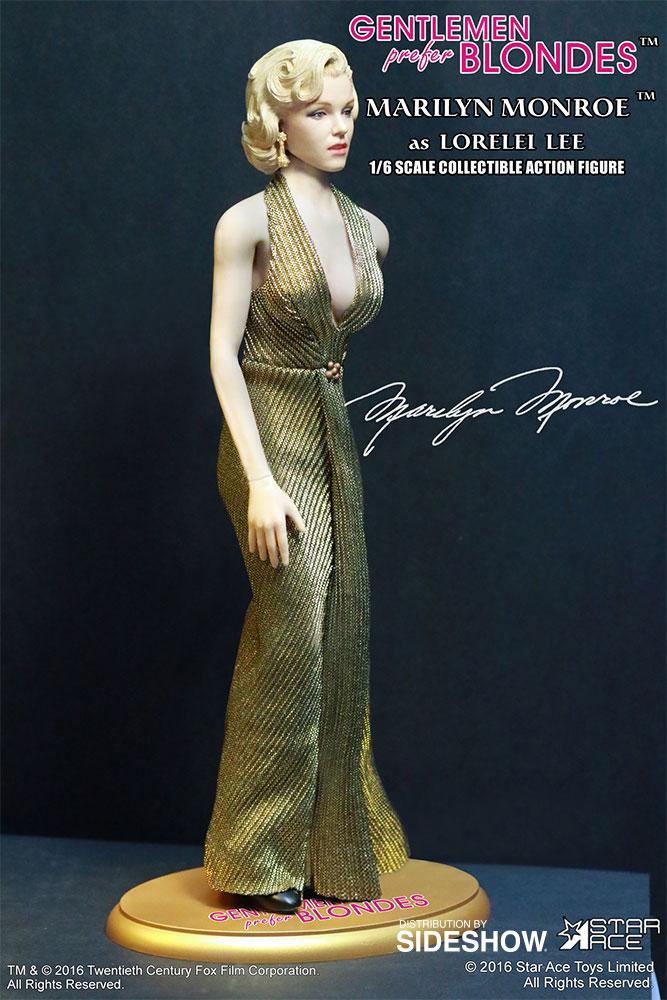 "STAR ACE - Marilyn Monroe from ""Gentlemen Prefer Blondes"" Marilyn-monroe-as-lorelei-lee-gold-dress-version-sixth-scale-star-ace-902838-12"