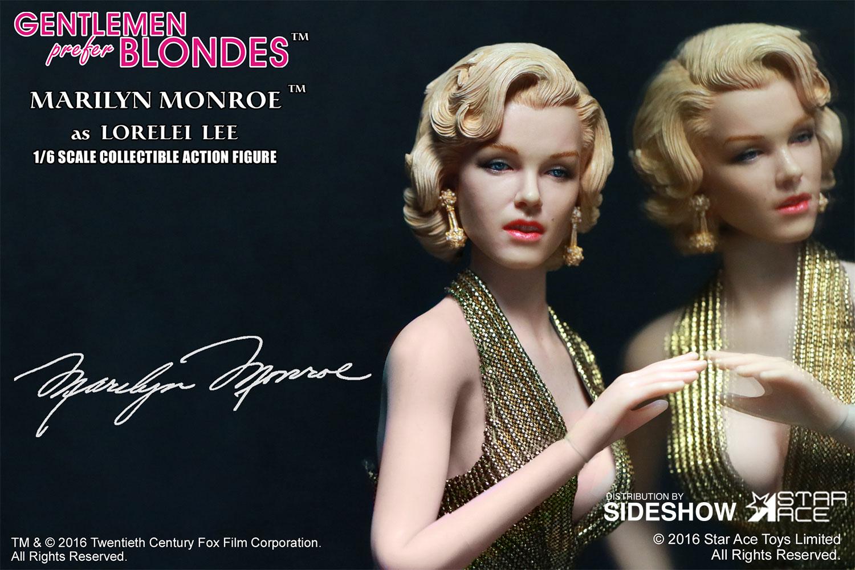 "STAR ACE - Marilyn Monroe from ""Gentlemen Prefer Blondes"" Marilyn-monroe-as-lorelei-lee-gold-dress-version-sixth-scale-star-ace-902838-13"