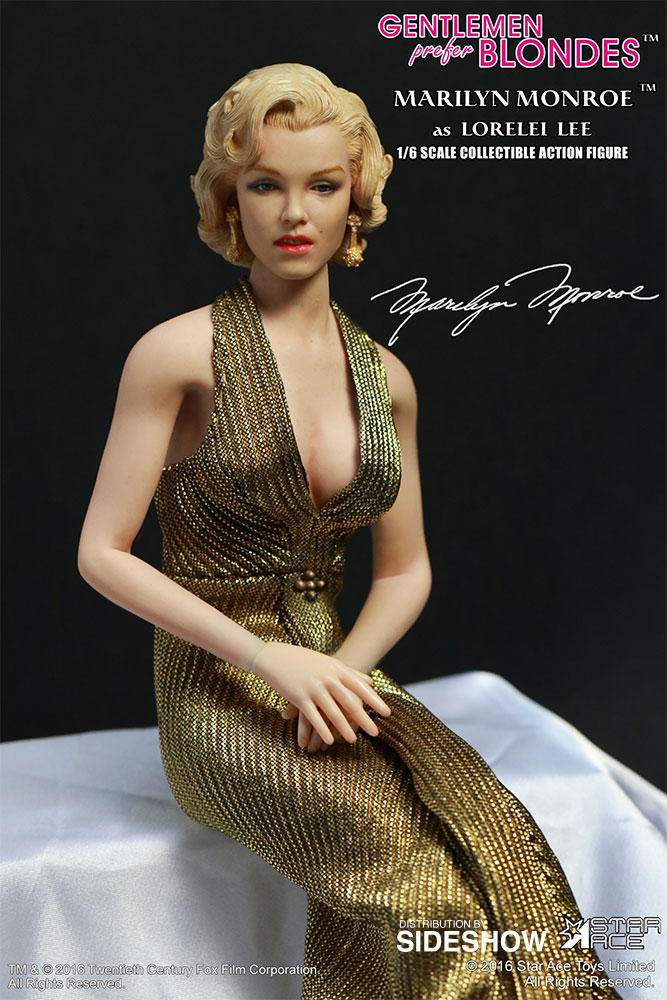 "STAR ACE - Marilyn Monroe from ""Gentlemen Prefer Blondes"" Marilyn-monroe-as-lorelei-lee-gold-dress-version-sixth-scale-star-ace-902838-15"