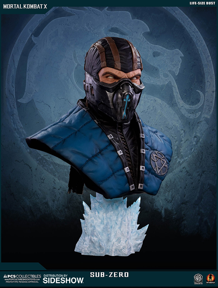 Mortal Kombat Sub-Zero Life-Size Bust by Pop Culture Shock