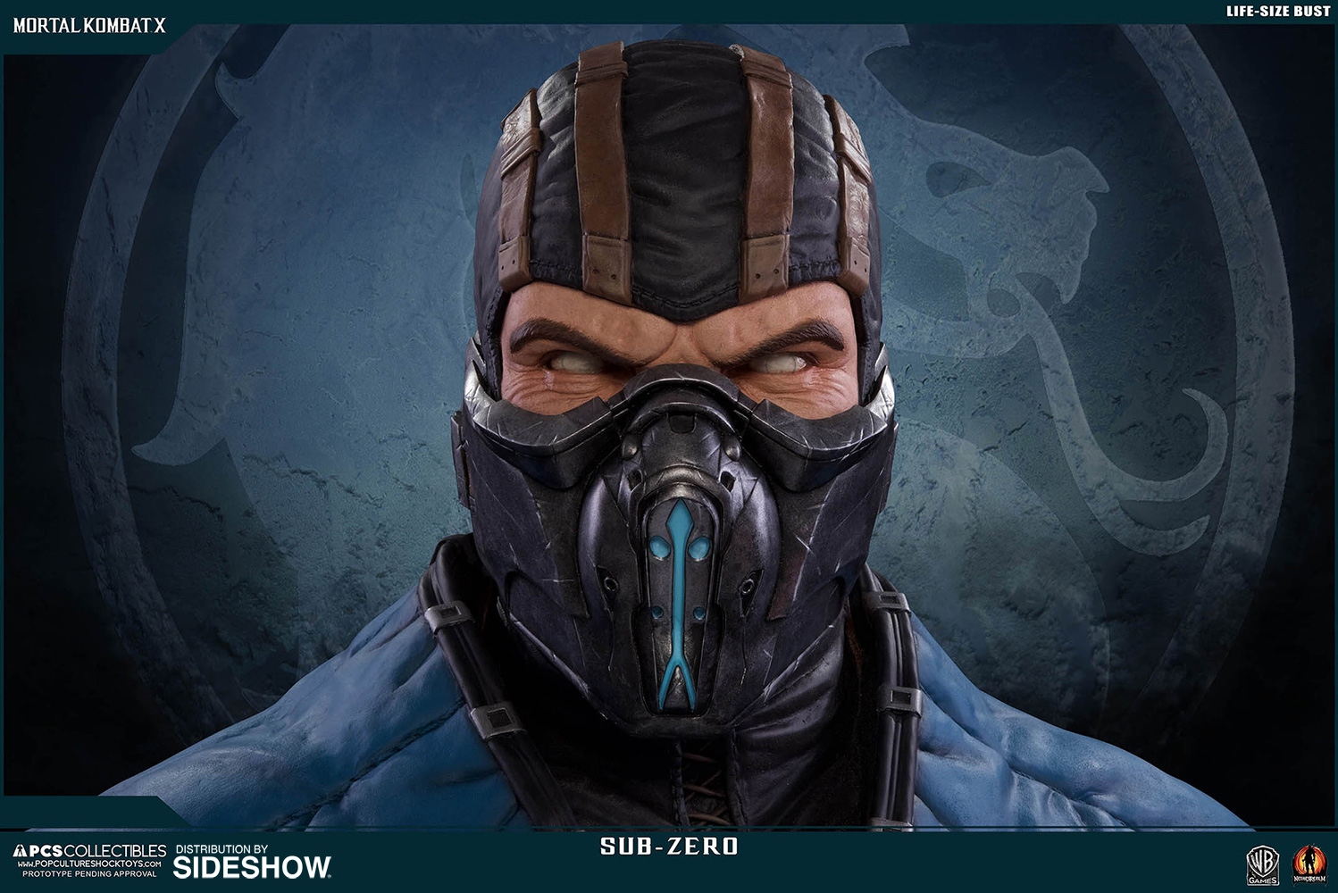 mortal kombat sub zero life size bust by pop culture shock sideshow collectibles. Black Bedroom Furniture Sets. Home Design Ideas