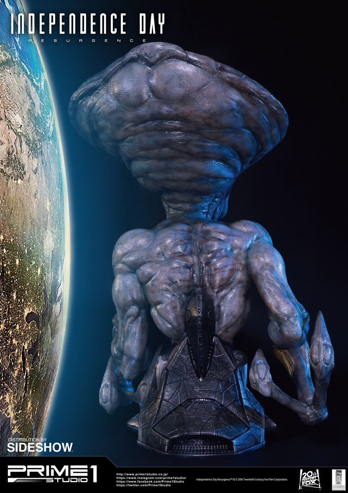 independence day resurgence alien lifesize bust by prime