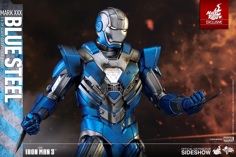 marvel iron man mark xxx - blue steel sixth scale figure