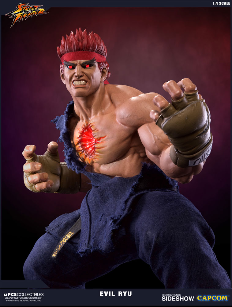 Street Fighter Evil Ryu Statue by Pop Culture Shock ...  Street Fighter ...