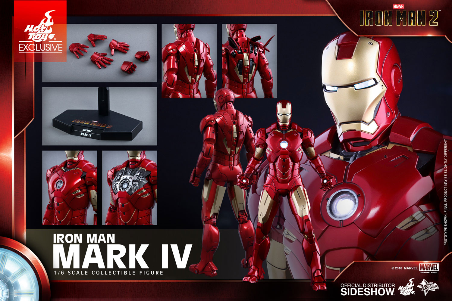 marvel iron man mark iv sixth scale figure by toys sideshow
