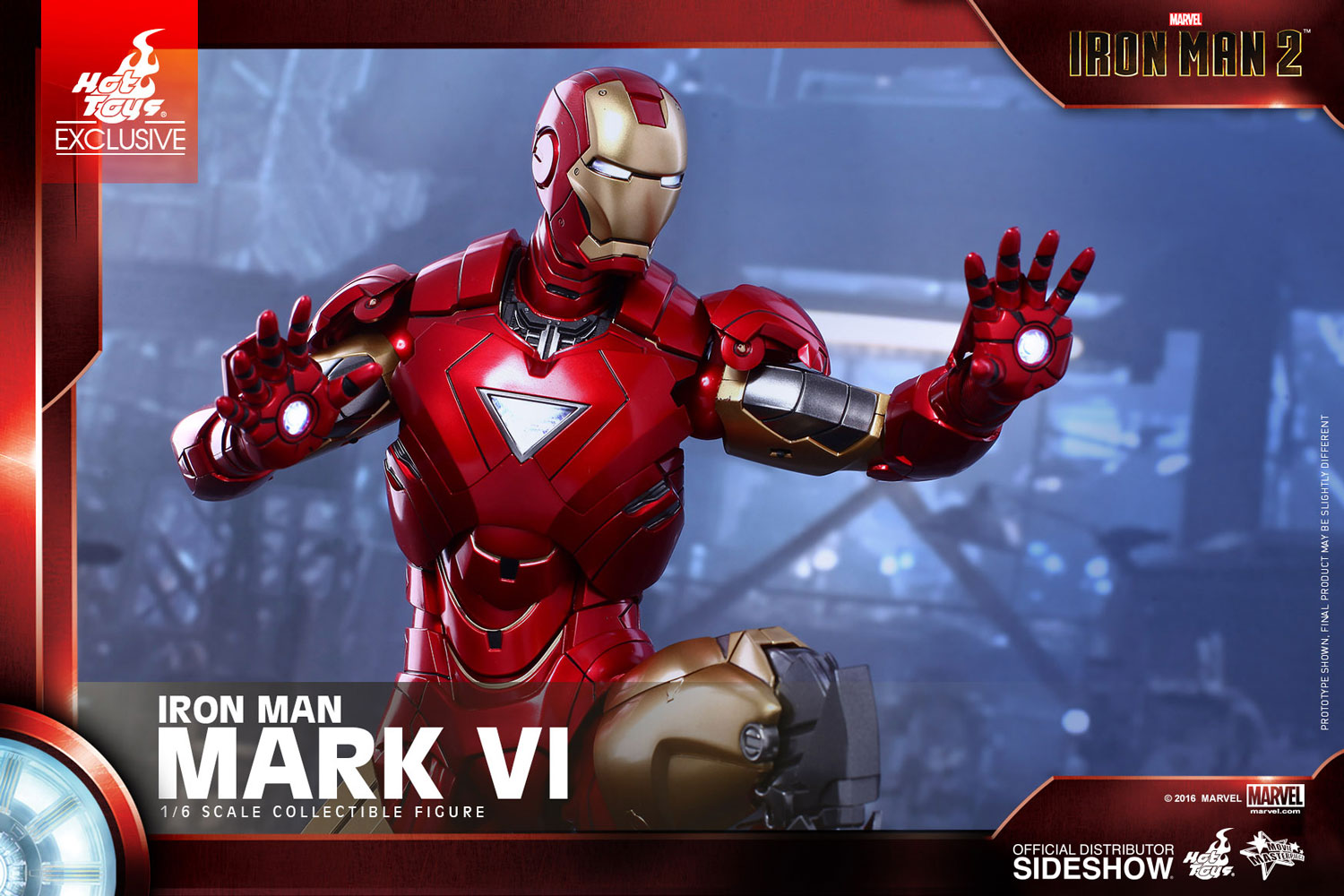 marvel iron man mark vi sixth scale figure by toys sideshow