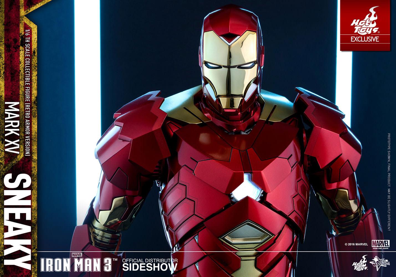 marvel iron man mark xv sneaky retro armor version sixth