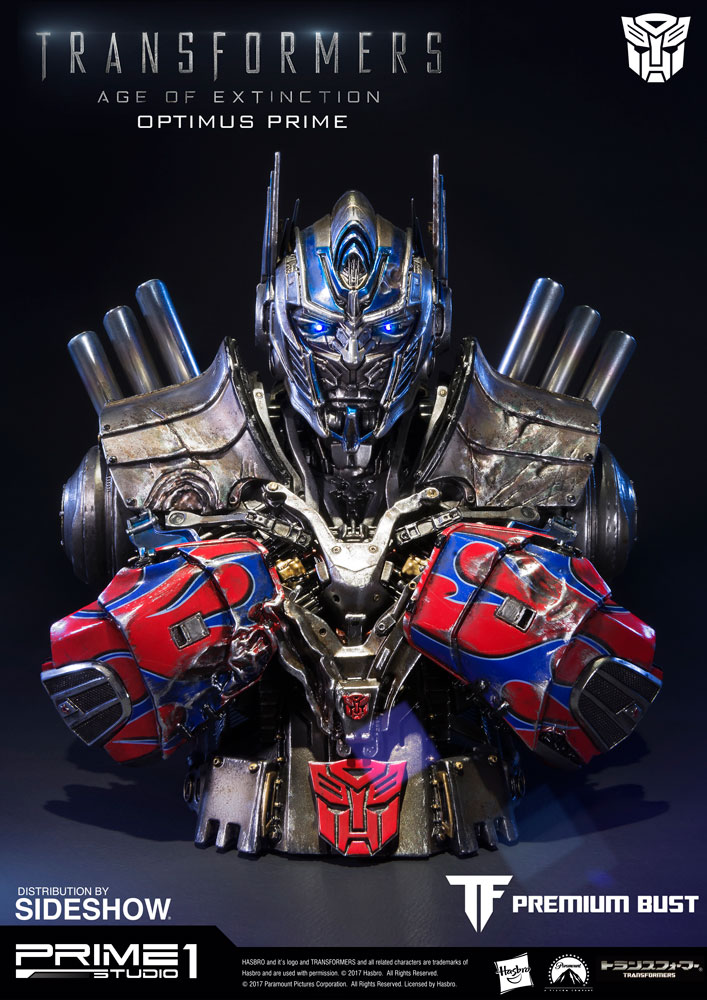 Optimus Prime Damaged Version Bust