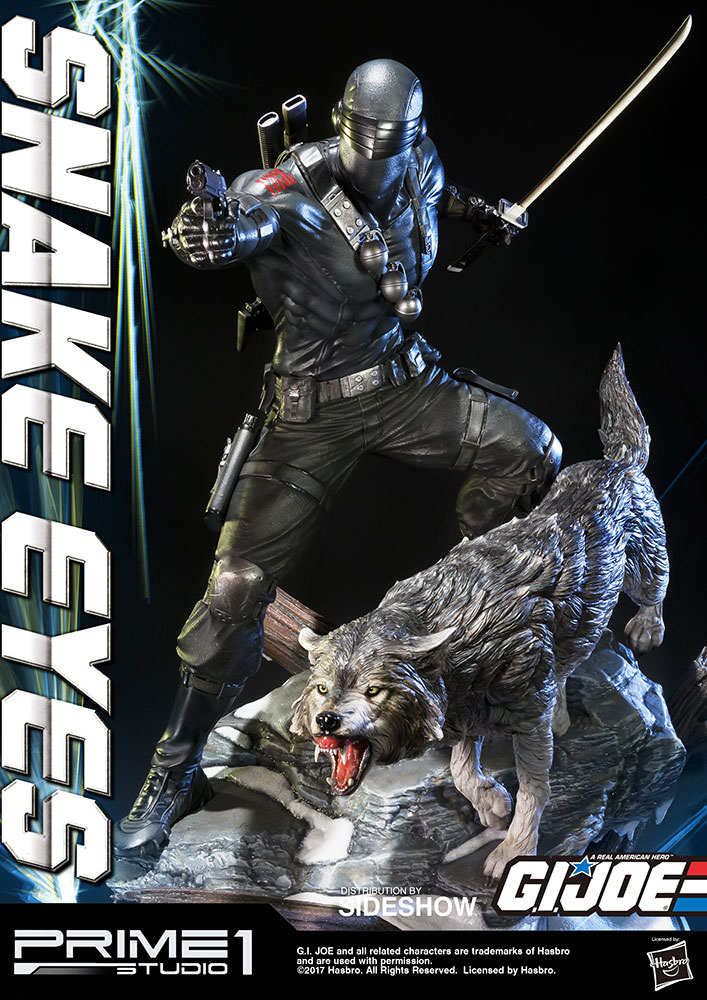 g i joe snake eyes statue by prime 1 studio sideshow collectibles