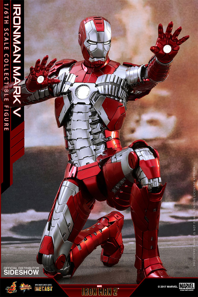 Marvel Iron Man Mark V Sixth Scale Figure by Hot Toys ...  Marvel Iron Man...