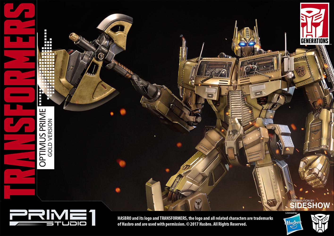 transformers optimus prime gold version - transformers gener