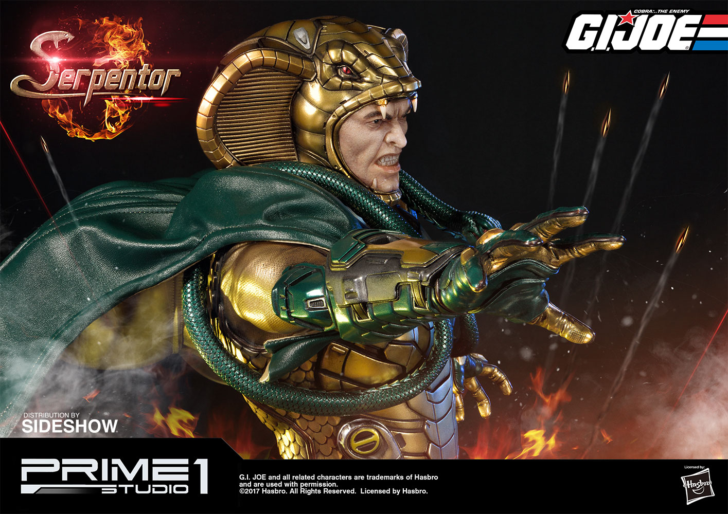 g i joe serpentor statue by prime 1 studio sideshow collectibles