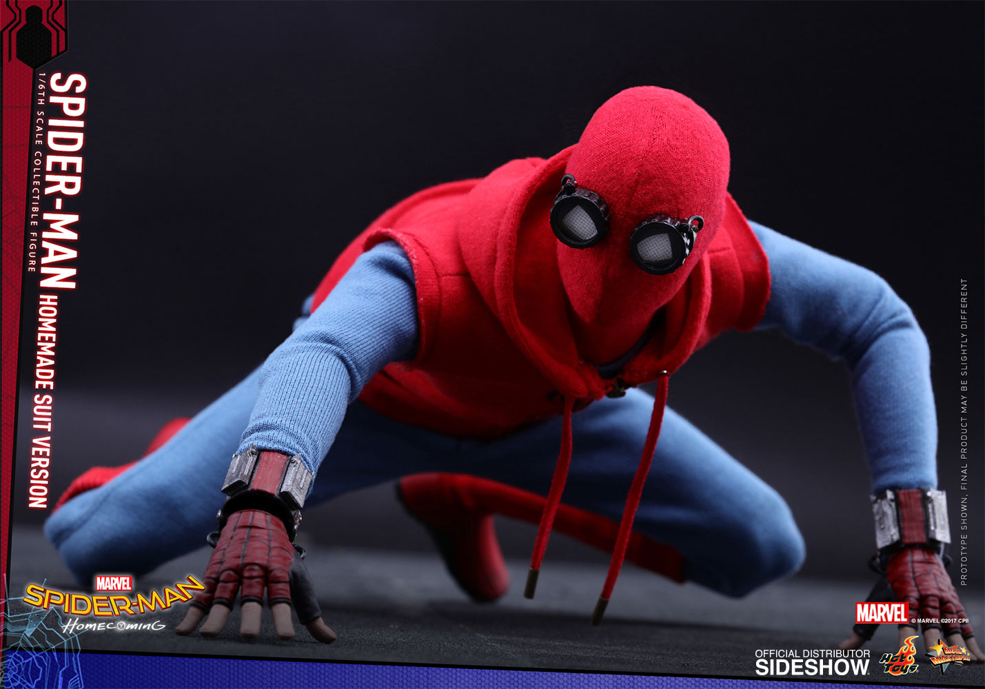 Marvel Spider-Man Homemade Suit Version Sixth Scale Figure b ...