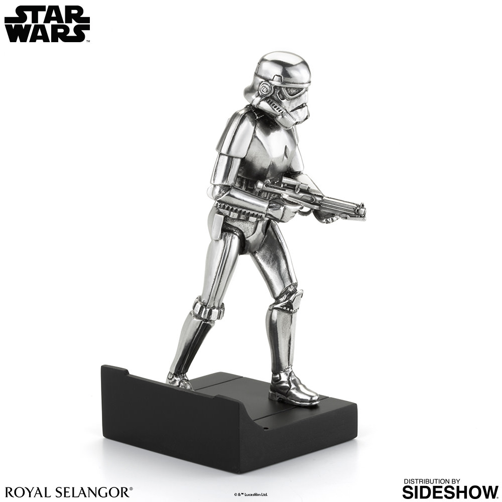 star wars stormtrooper figurine pewter collectible by. Black Bedroom Furniture Sets. Home Design Ideas