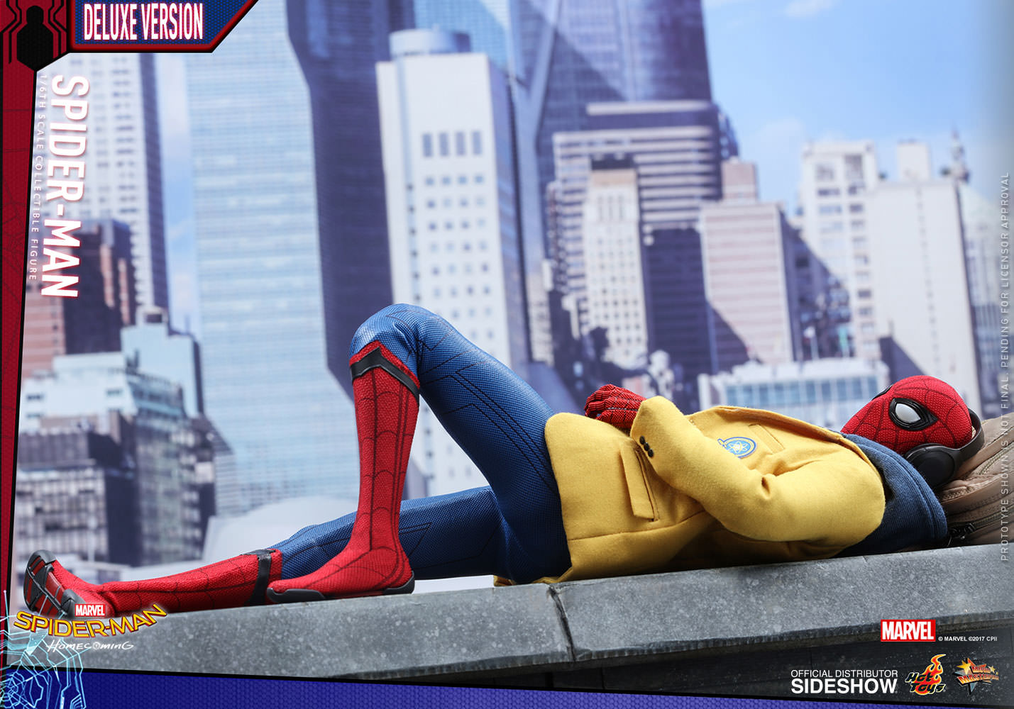 marvel spider man deluxe version sixth scale figure by t