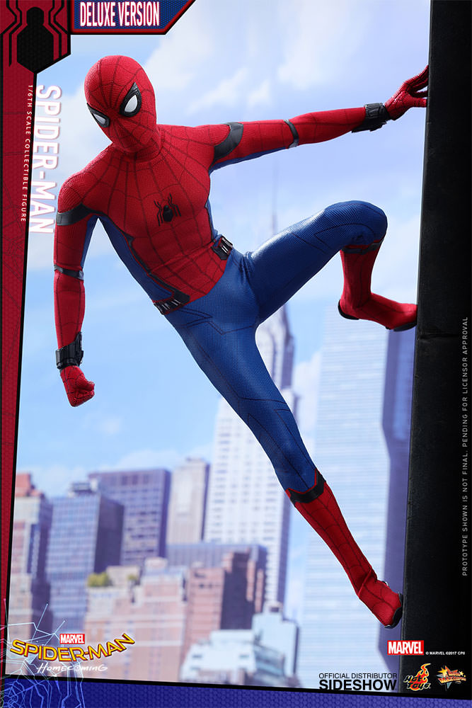 Homecoming Spider Man Toys : Marvel spider man deluxe version sixth scale figure by hot