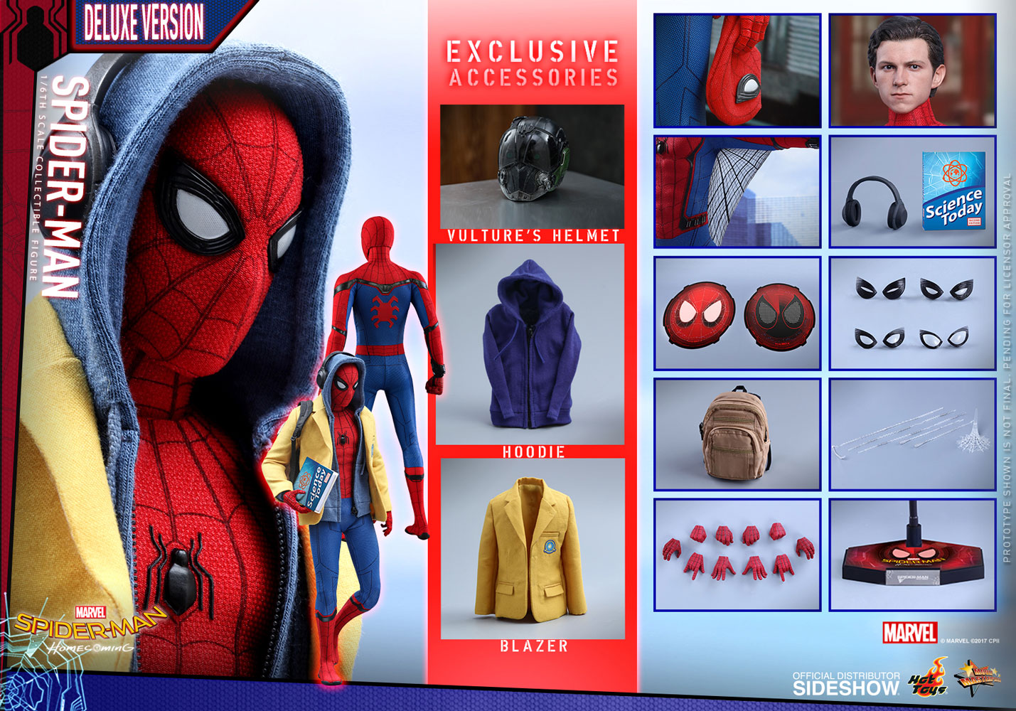 Marvel Spider Man Deluxe Version Sixth Scale Figure By Hot T