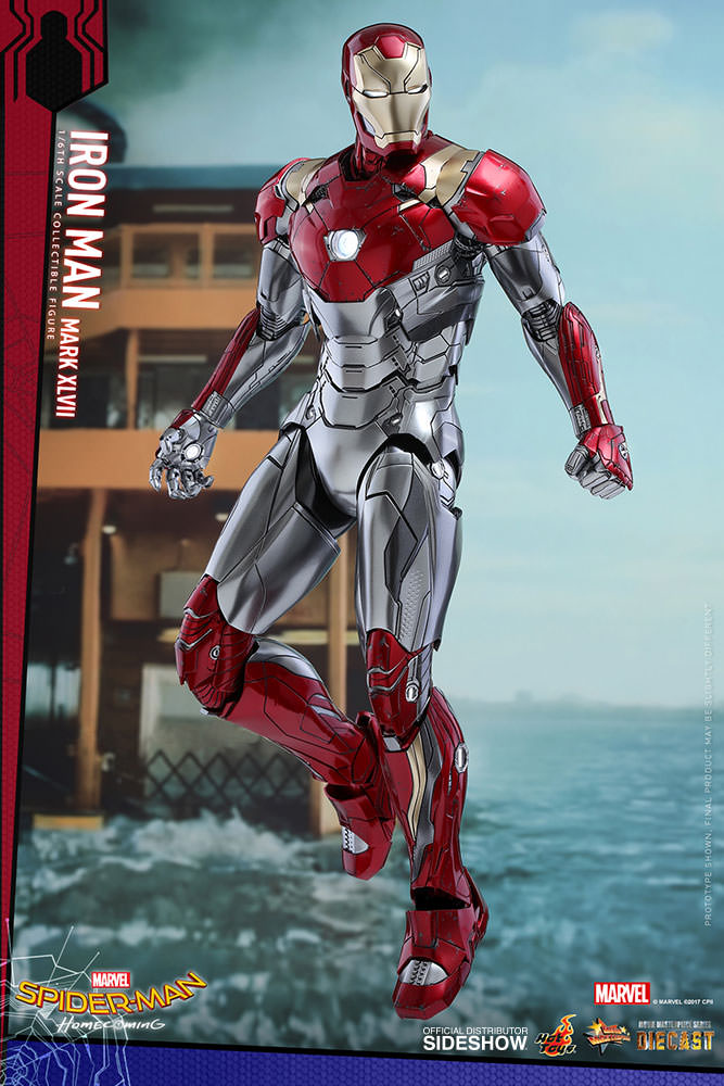 SPIDERMAN HOME COMING - IRON MAN  Mark XLVII (Diecast) Marvel-spider-man-homecoming-iron-man-mark-xlvii-sixth-scale-hot-toys-903079-01