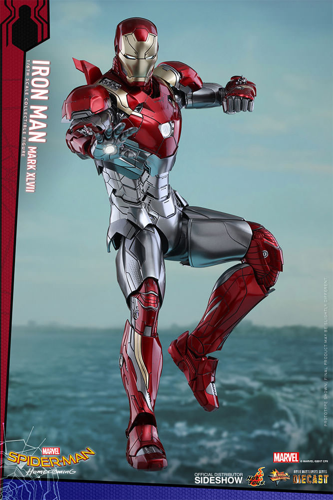 SPIDERMAN HOME COMING - IRON MAN  Mark XLVII (Diecast) Marvel-spider-man-homecoming-iron-man-mark-xlvii-sixth-scale-hot-toys-903079-02