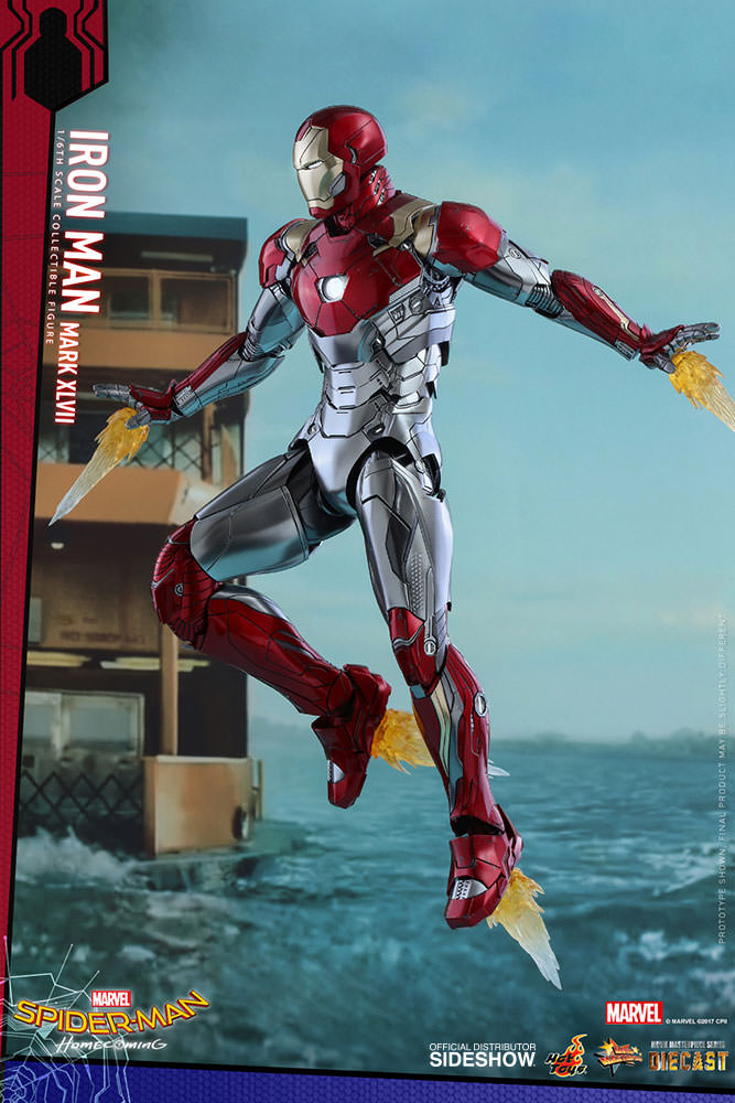 SPIDERMAN HOME COMING - IRON MAN  Mark XLVII (Diecast) Marvel-spider-man-homecoming-iron-man-mark-xlvii-sixth-scale-hot-toys-903079-03