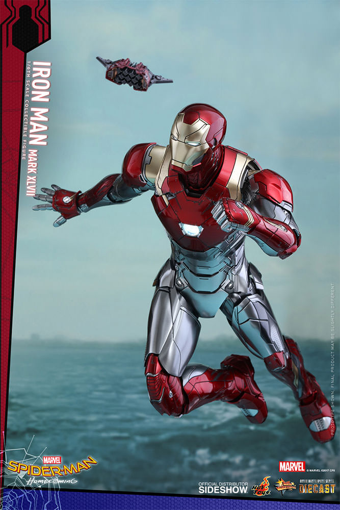 SPIDERMAN HOME COMING - IRON MAN  Mark XLVII (Diecast) Marvel-spider-man-homecoming-iron-man-mark-xlvii-sixth-scale-hot-toys-903079-04