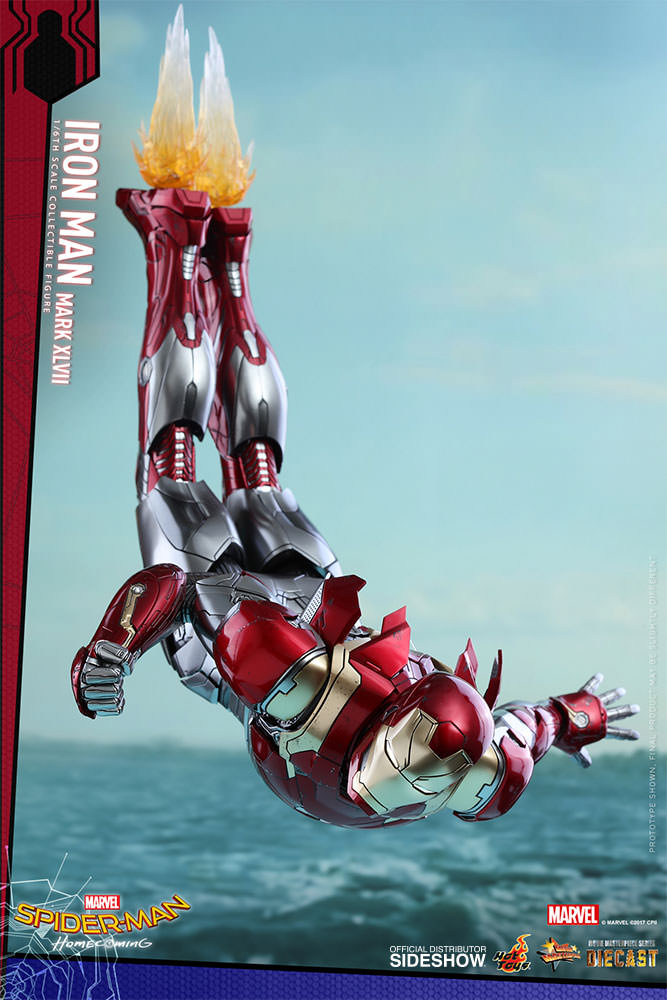 SPIDERMAN HOME COMING - IRON MAN  Mark XLVII (Diecast) Marvel-spider-man-homecoming-iron-man-mark-xlvii-sixth-scale-hot-toys-903079-05
