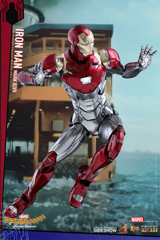 SPIDERMAN HOME COMING - IRON MAN  Mark XLVII (Diecast) Marvel-spider-man-homecoming-iron-man-mark-xlvii-sixth-scale-hot-toys-903079-06