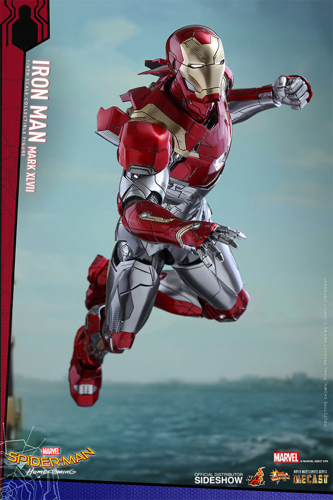SPIDERMAN HOME COMING - IRON MAN  Mark XLVII (Diecast) Marvel-spider-man-homecoming-iron-man-mark-xlvii-sixth-scale-hot-toys-903079-07