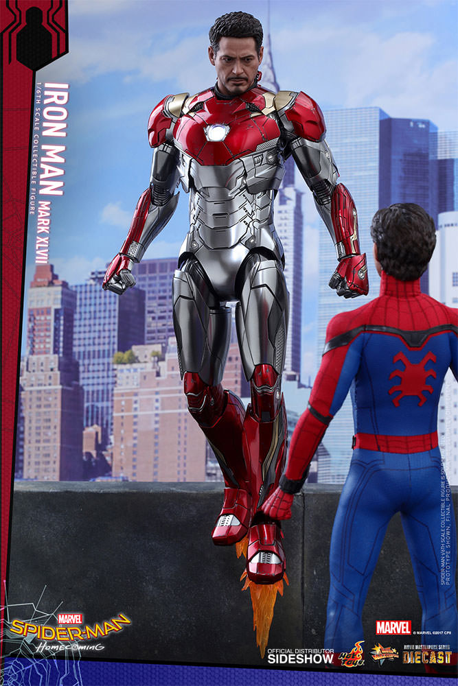 SPIDERMAN HOME COMING - IRON MAN  Mark XLVII (Diecast) Marvel-spider-man-homecoming-iron-man-mark-xlvii-sixth-scale-hot-toys-903079-08