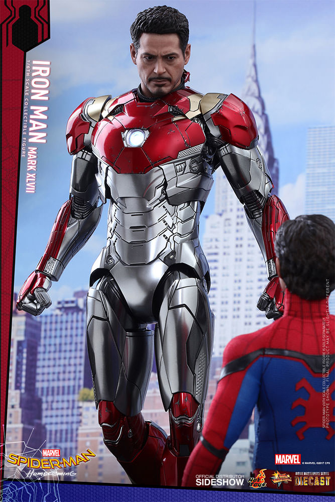 SPIDERMAN HOME COMING - IRON MAN  Mark XLVII (Diecast) Marvel-spider-man-homecoming-iron-man-mark-xlvii-sixth-scale-hot-toys-903079-09