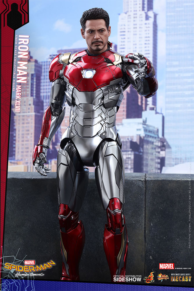 SPIDERMAN HOME COMING - IRON MAN  Mark XLVII (Diecast) Marvel-spider-man-homecoming-iron-man-mark-xlvii-sixth-scale-hot-toys-903079-10