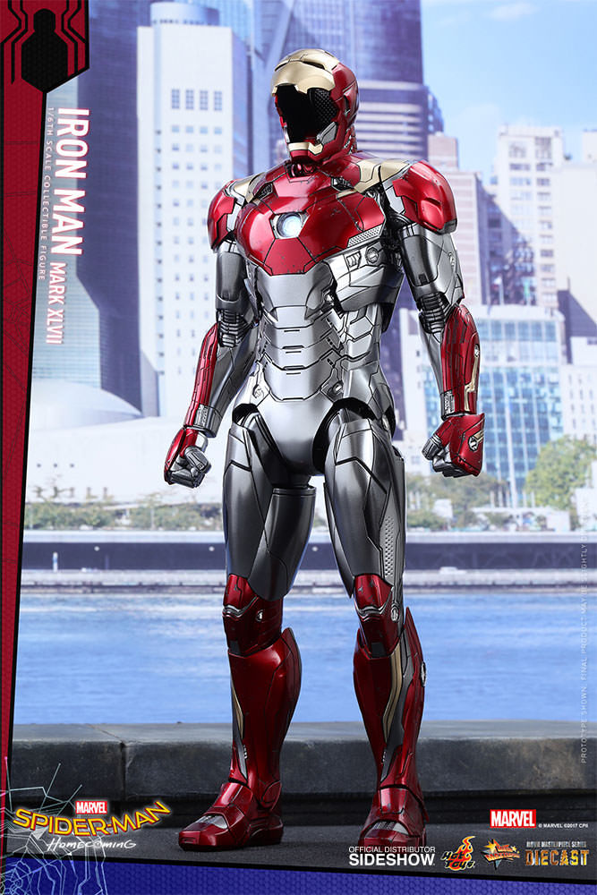 SPIDERMAN HOME COMING - IRON MAN  Mark XLVII (Diecast) Marvel-spider-man-homecoming-iron-man-mark-xlvii-sixth-scale-hot-toys-903079-11