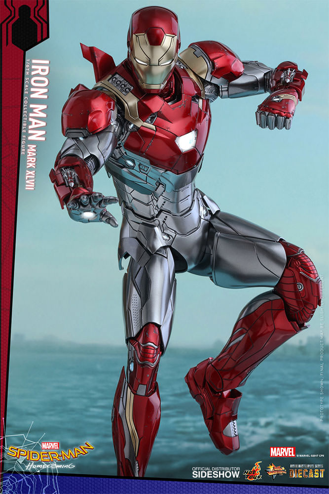 SPIDERMAN HOME COMING - IRON MAN  Mark XLVII (Diecast) Marvel-spider-man-homecoming-iron-man-mark-xlvii-sixth-scale-hot-toys-903079-13