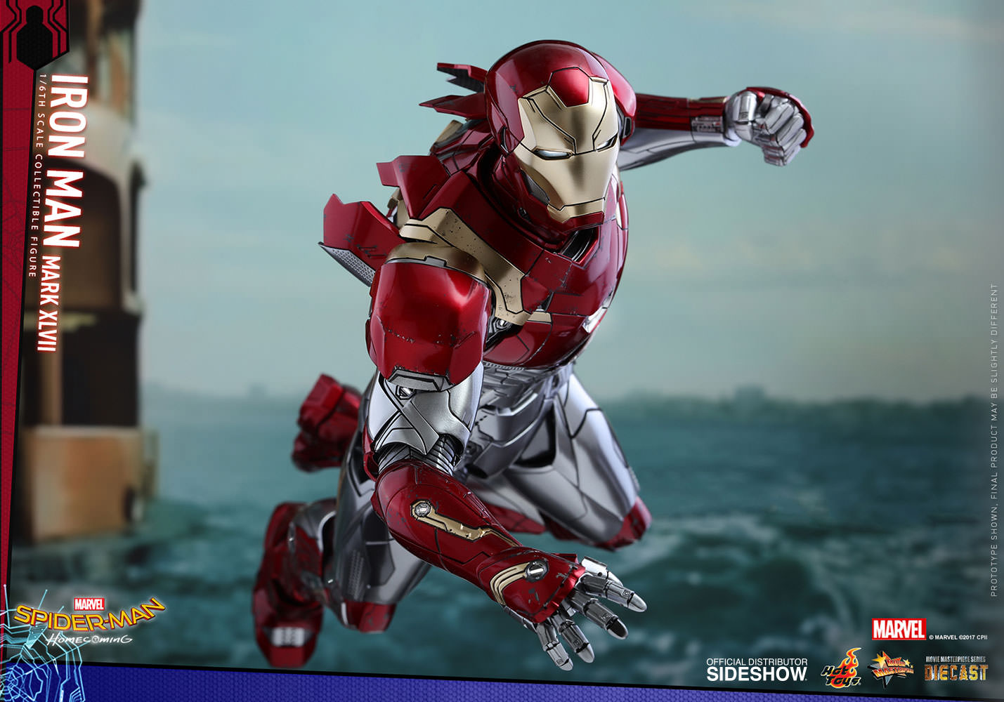 SPIDERMAN HOME COMING - IRON MAN  Mark XLVII (Diecast) Marvel-spider-man-homecoming-iron-man-mark-xlvii-sixth-scale-hot-toys-903079-14