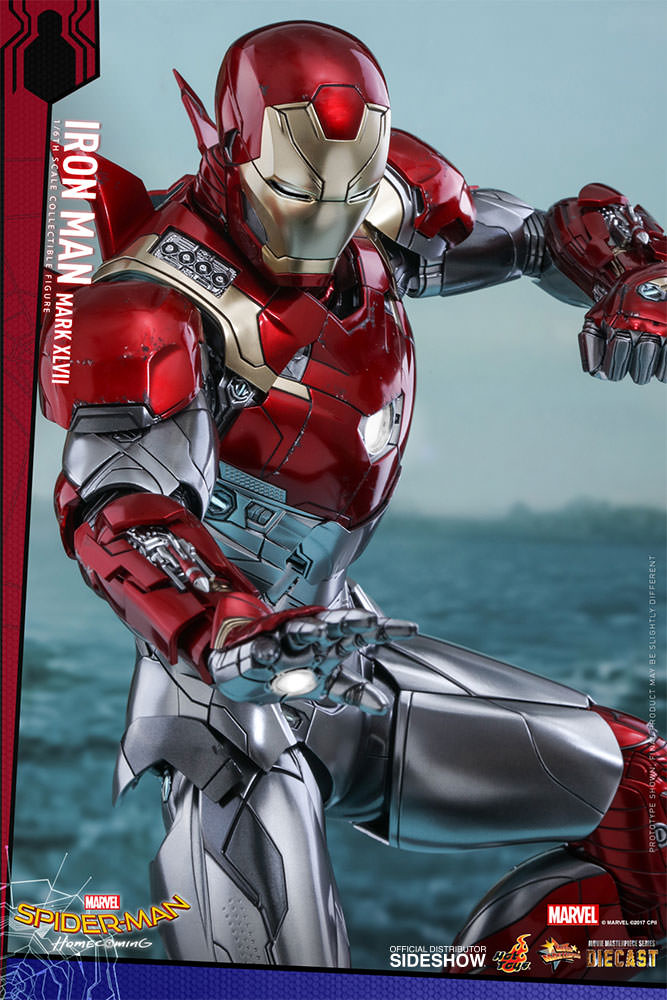 SPIDERMAN HOME COMING - IRON MAN  Mark XLVII (Diecast) Marvel-spider-man-homecoming-iron-man-mark-xlvii-sixth-scale-hot-toys-903079-15